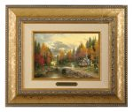 The Valley of Peace – 10.5″ x 12.5″ Brushworks (Brushworks Gold Frame)