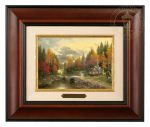 The Valley of Peace – 10.5″ x 12.5″ Brushworks (Brushworks Burl Frame)