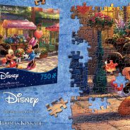 Ceaco Thomas Kinkade Mickey and Minnie Sweetheart Café  750 Piece Puzzle