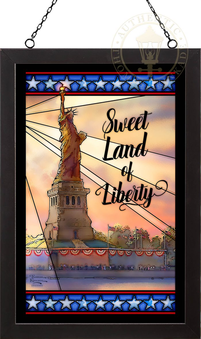 Sweet Land of Liberty – 20″ x 14″ Stained Glass Art