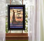 "Sweet Land of Liberty - 20"" x 14"" Stained Glass Art"