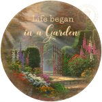 Life Began in a Garden – 21″ Wood Sign