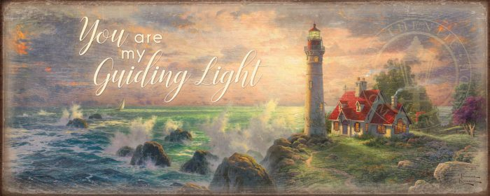 You are My Guiding Light – 12″ x 30″ Wood Sign