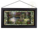 The Garden of Prayer – 13″ x 23″ Stained Glass Art