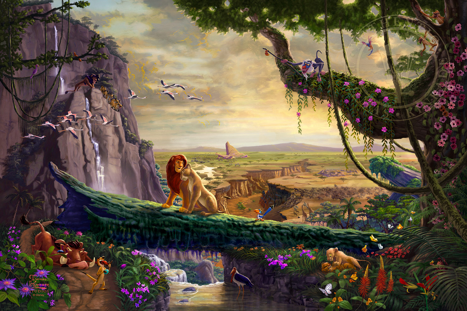 Disney Lion King Return To Pride Rock Thomas Kinkade Studios