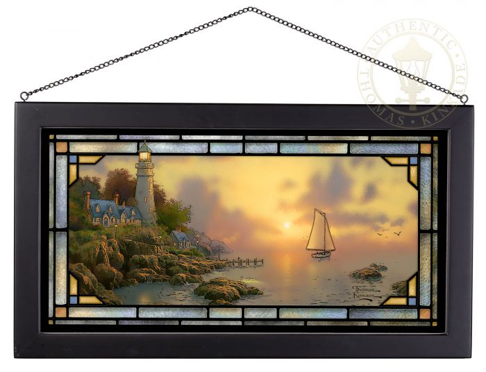 The Sea of Tranquility – 13″ x 23″ Stained Glass Art
