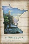 Minnesota; Split Rock Lighthouse – 18″ x 12″ Wood Sign
