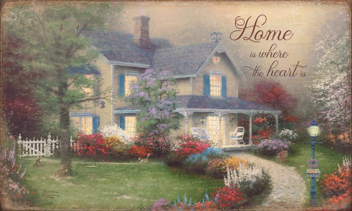 Home is Where the Heart Is – 18″ x 30″ Wood Sign