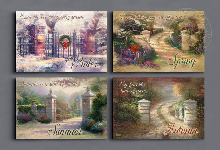 Seasonal Images – 12″ x 18″ Wood Signs (set of four)