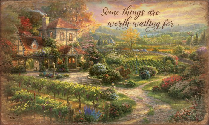 Some Things are Worth Waiting For – 18″ x 30″ Wood Sign