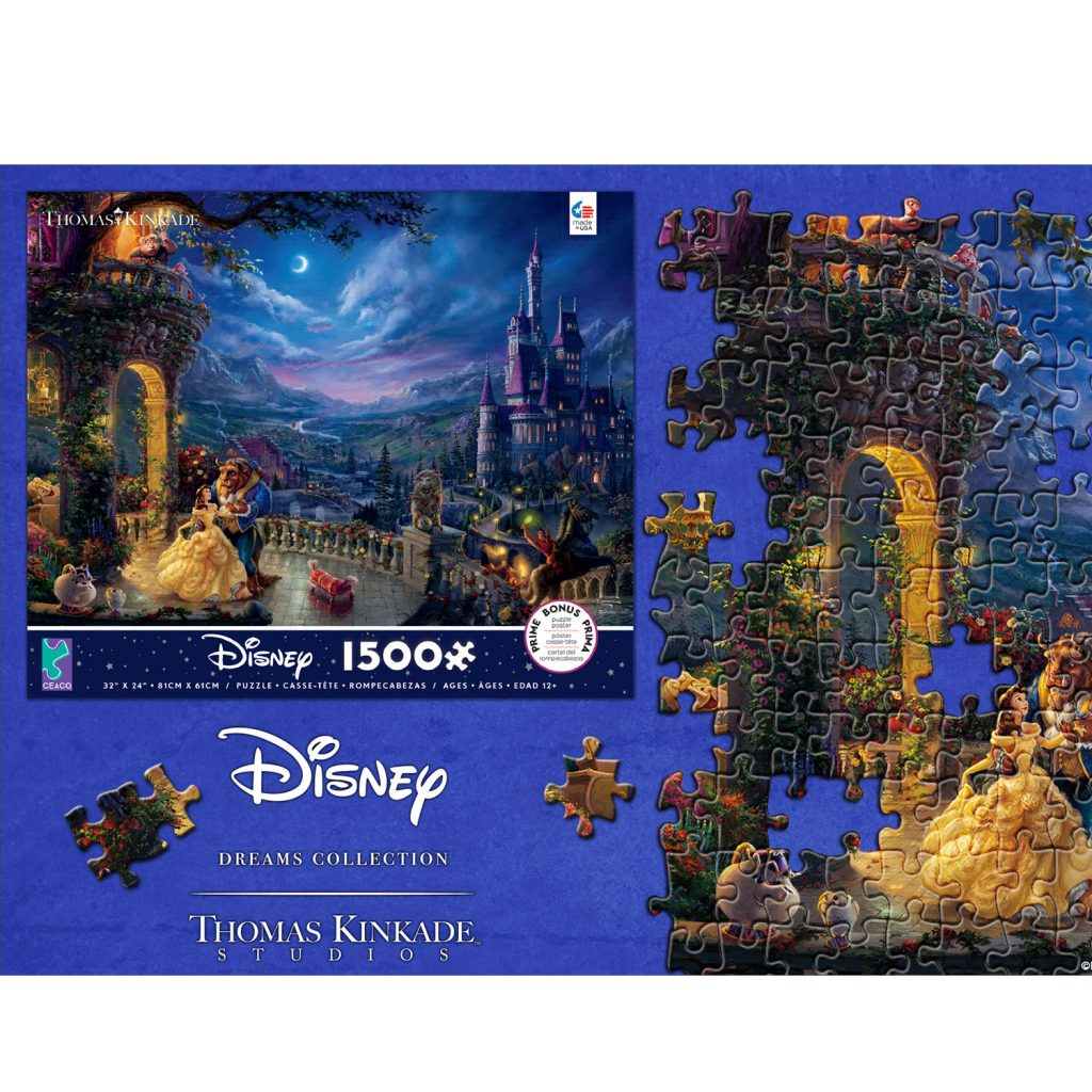 Ceaco Thomas Kinkade Studios Beauty and The Beast  1500 Piece Puzzle