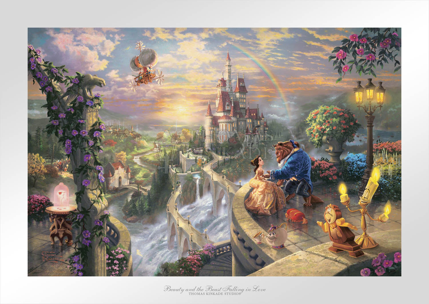 Beauty and the beast falling in love limited edition art