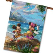 New-Disney Mickey and Minnie in Hawaii Flags From Flagology