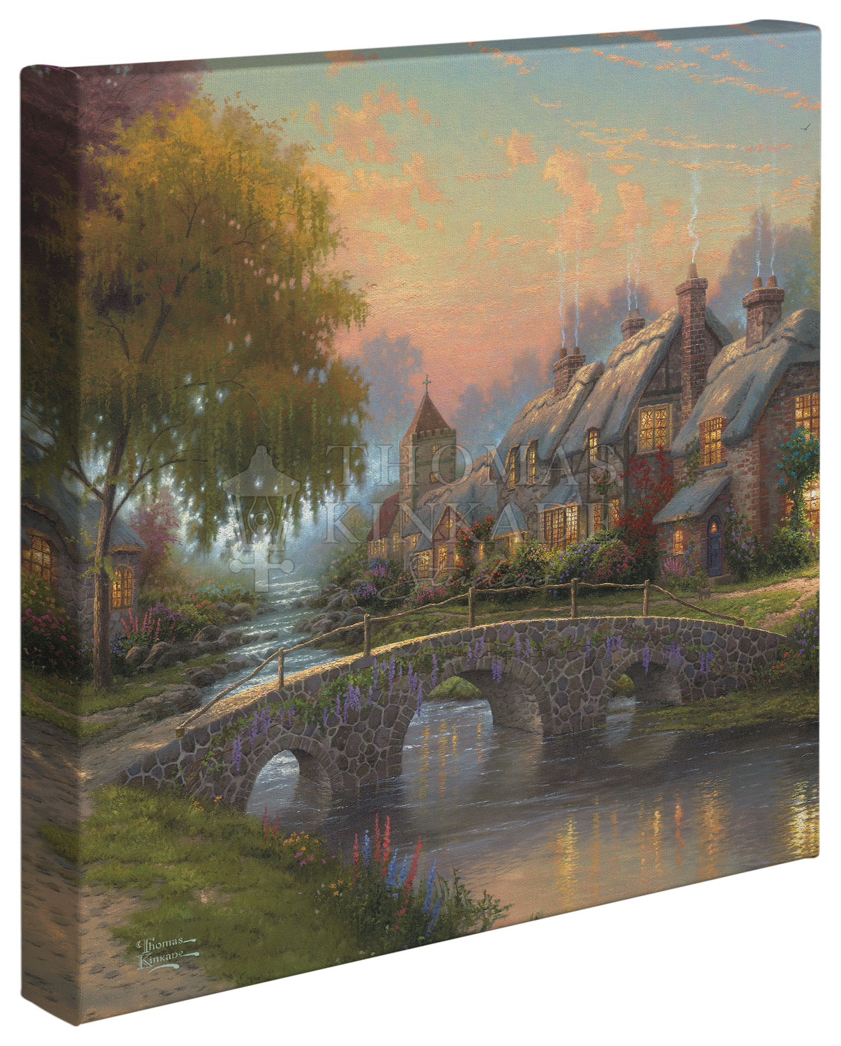 Cobblestone Bridge – 14″ x 14″ Gallery Wrapped Canvas
