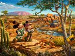 Mickey and Minnie in the Outback – Limited Edition Canvas