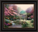 Pools of Serenity  – 28″ x 31″ Brushstroke Vignette (Black Frame)