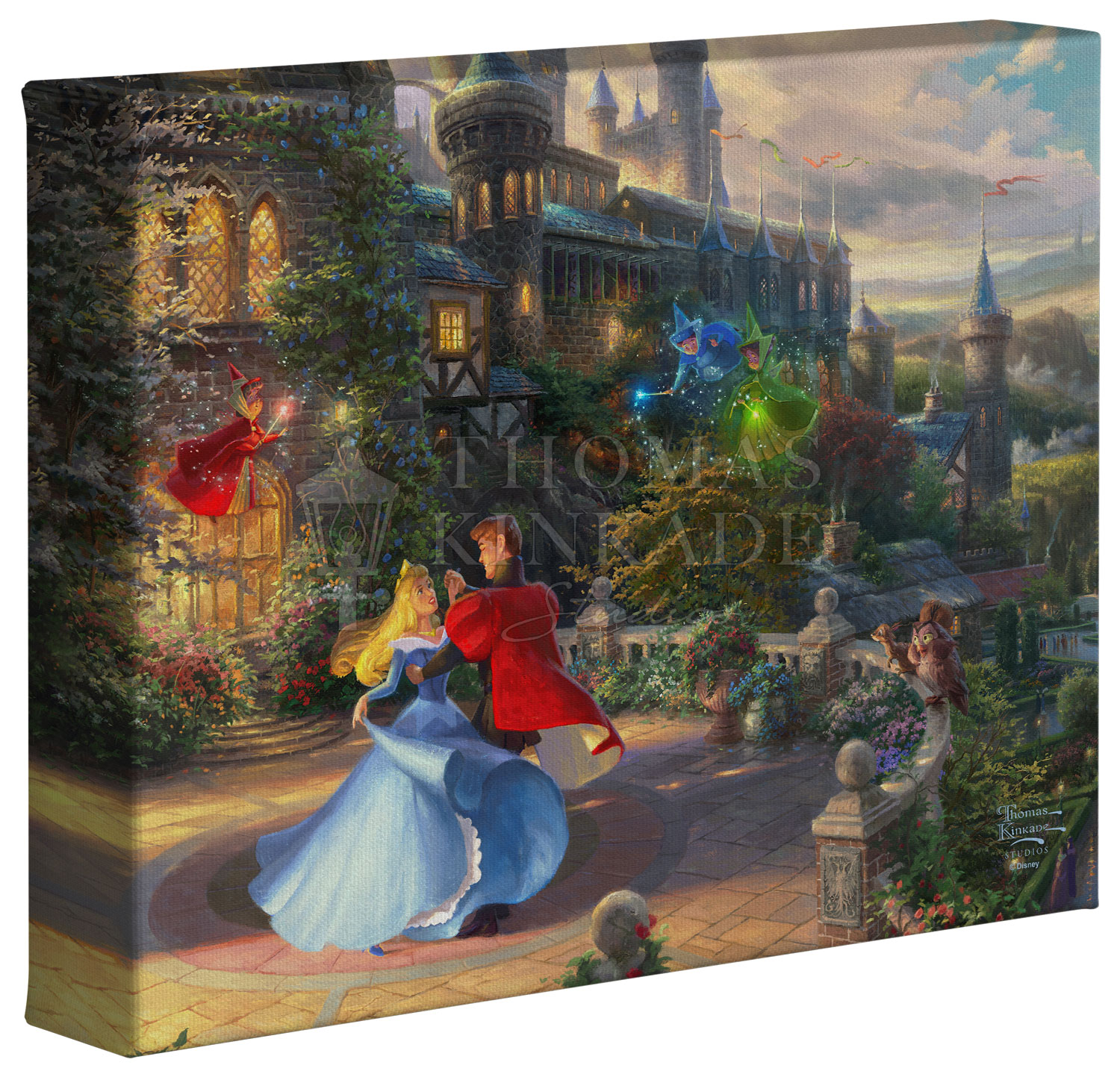 Disney Sleeping Beauty Dancing in the Enchanted Light – 8″ x 10″ Gallery Wrapped Canvas