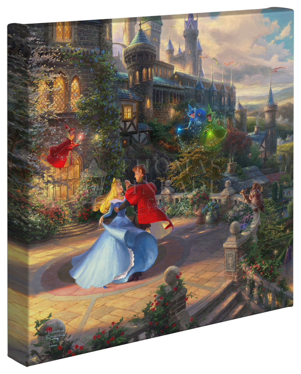 Disney Sleeping Beauty Dancing in the Enchanted Light – 14″ x 14″ Gallery Wrapped Canvas