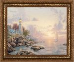 Sea of Tranquility, The – 20.5″ x 24.5″ Textured Print (Gold Frame)