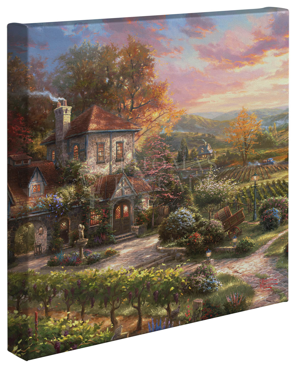 Wine Country Living – 14″ x 14″ Gallery Wrapped Canvas