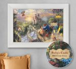 Beauty and the Beast Falling in Love – Personalized Canvas