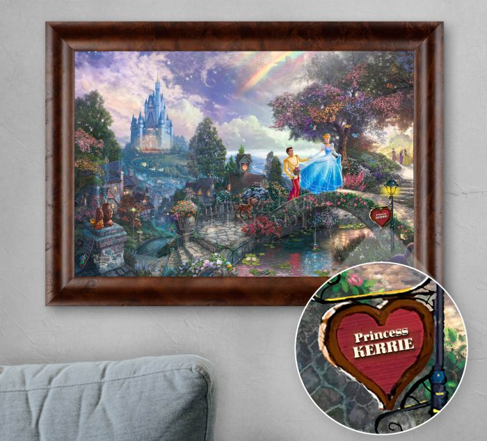 Cinderella Wishes Upon a Dream – Personalized Canvas