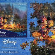Ceaco Thomas Kinkade Studios Mickey and Minnie Sweetheart Fire 750 Piece Puzzle