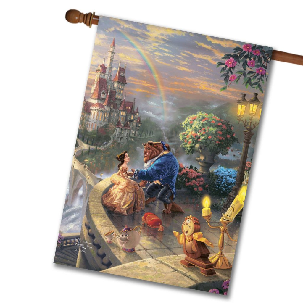 New-Disney Beauty and the Beast Flags From Flagology