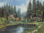 Cottage in the Pines – Limited Edition Canvas