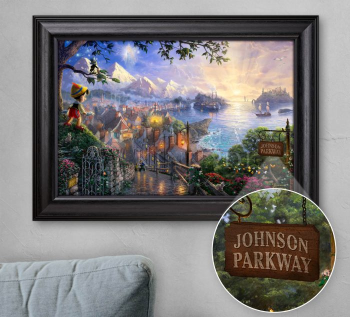 Pinocchio Wishes Upon a Star – Personalized Canvas