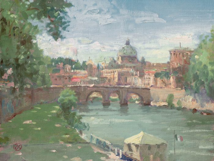 Rome, View of St. Peter's – Limited Edition Art