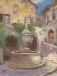 Tuscan Village Fountain – Limited Edition Canvas