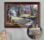 Snow White Discovers the Cottage – Personalized Canvas