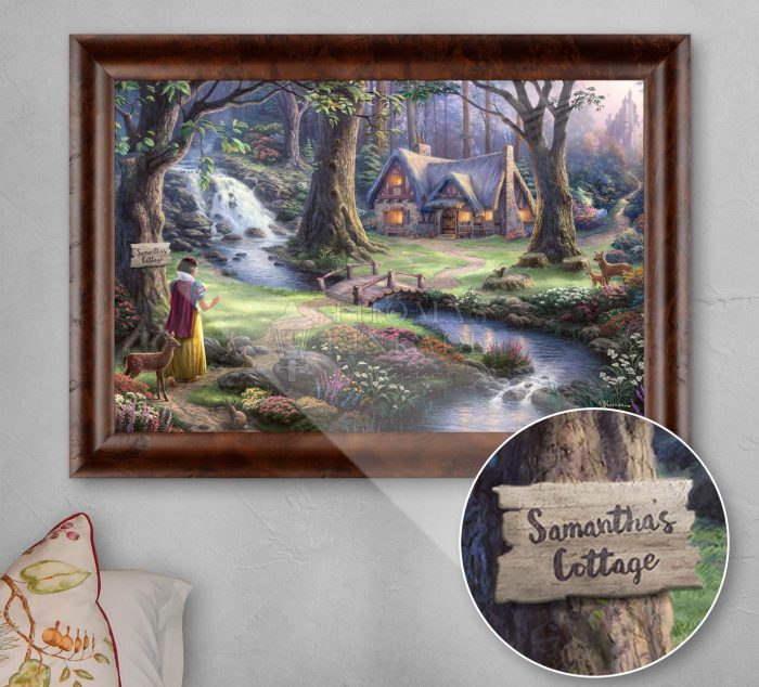 Disney – Snow White Discovers the Cottage – Personalized Canvas