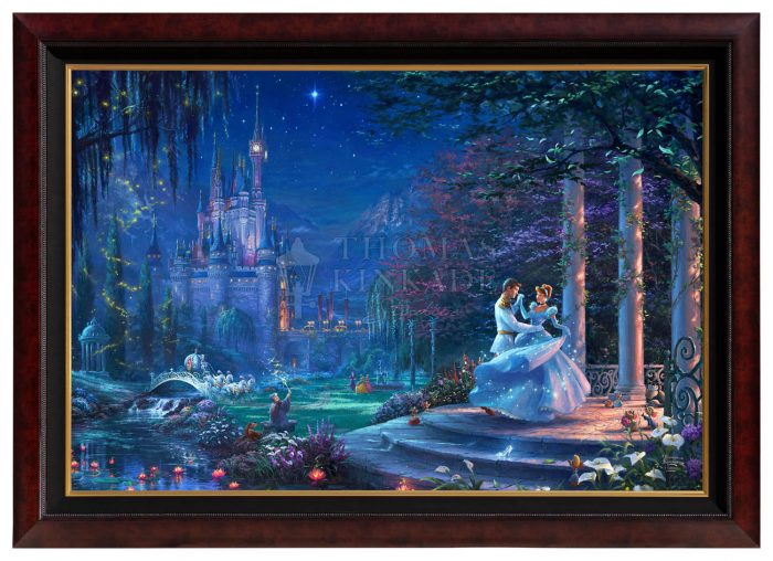 Cinderella Dancing In The Starlight – 40″ x 60″  – Canvas Print (Monumental Copper Frame)
