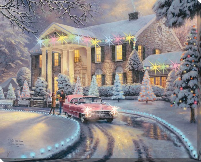Graceland Christmas – 16″ x 20″ Lighted Wrapped Canvas
