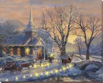 Holiday Eve Sleigh Ride – 16″ x 20″ Lighted Wrapped Canvas