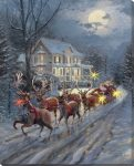 Here Comes Santa Claus – 20″ x 16″ Lighted Wrapped Canvas