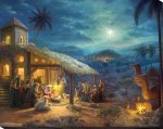 The Nativity – 16″ x 20″ Lighted Wrapped Canvas