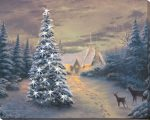 A White Christmas – 16″ x 20″ Lighted Wrapped Canvas