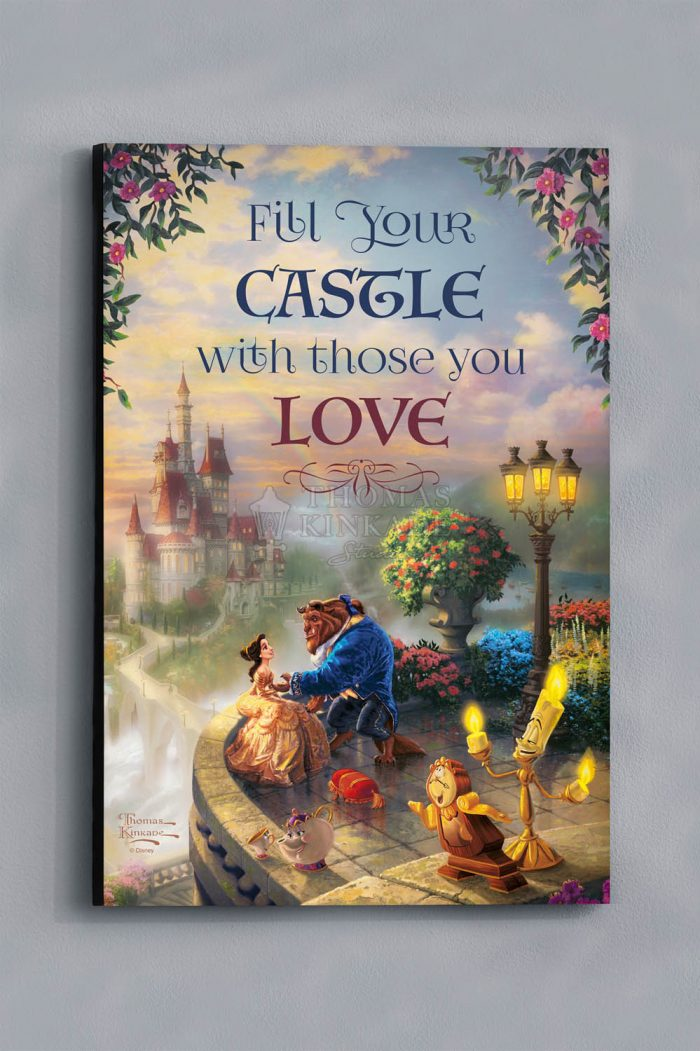 Beauty and The Beast Falling in Love – Wood Sign