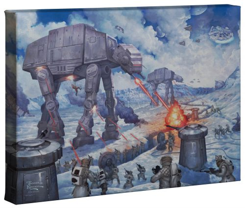 """The Battle Of Hoth - 10"""" 14"""" - Gallery Wrap Canvas"""