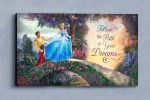 Cinderella Wishes Upon a Dream – Wood Sign