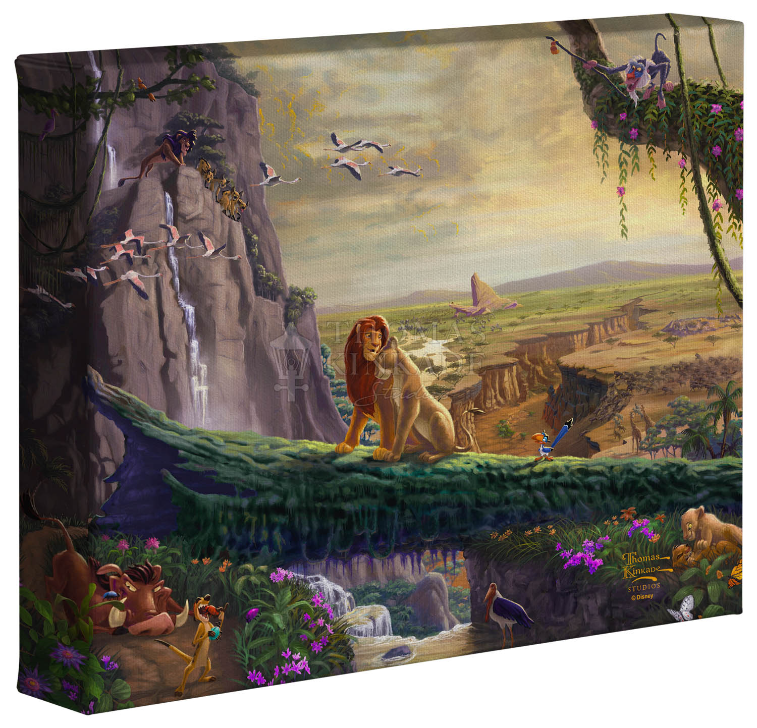 Lion King Return To Pride Rock 8 X 10 Gallery Wrapped Canvas