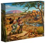 Mickey and Minnie in the Outback – 8″ x 10″ – Gallery Wrapped Canvas