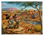 "Mickey and Minnie in the Outback - 8"" x 10"" - Gallery Wrap Canvas"