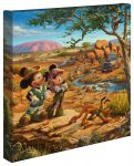 Mickey and Minnie in the Outback – 14″ x 14″ – Gallery Wrap Canvas