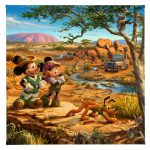 "Mickey and Minnie in the Outback - 14"" x 14"" - Gallery Wrap Canvas"