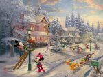 Mickey's Victorian Christmas – Limited Edition Canvas