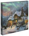 Santa's Night Before Christmas – 14″ x 14″ – Gallery Wrapped Canvas